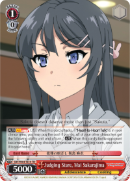 SBY/W64-TE14 Judging Stare, Mai Sakurajima - Rascal Does Not Dream of Bunny Girl Senpai Trial Deck English Weiss Schwarz Trading Card Game