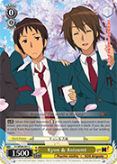 SY/WE09-E01 Kyon & Koizumi - The Melancholy of Haruhi Suzumiya Extra Booster English Weiss Schwarz Trading Card Game
