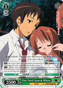 SY/WE09-E06 Time Travel, Kyon & Mikuru - The Melancholy of Haruhi Suzumiya Extra Booster English Weiss Schwarz Trading Card Game