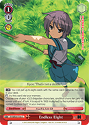 SY/WE09-E19e Endless Eight - The Melancholy of Haruhi Suzumiya Extra Booster English Weiss Schwarz Trading Card Game