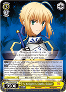 FS/S34-E003 A Knight's Oath, Saber - Fate/Stay Night Unlimited Bladeworks Vol.1 English Weiss Schwarz Trading Card Game