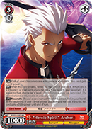 "FS/S34-E053 ""Heroic Spirit"" Archer - Fate/Stay Night Unlimited Bladeworks Vol.1 English Weiss Schwarz Trading Card Game"
