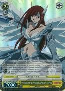 "FT/EN-S02-001S ""Heaven's Wheel Armor"" Erza (Foil) - Fairy Tail English Weiss Schwarz Trading Card Game"