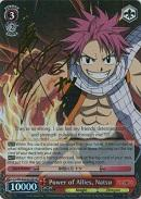 FT/EN-S02-057SP Power of Allies, Natsu (Foil) - Fairy Tail English Weiss Schwarz Trading Card Game