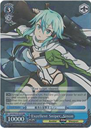 SAO/SE23-TE17R Excellent Sniper, Sinon (Foil) - Sword Art Online II Extra Booster English Weiss Schwarz Trading Card Game