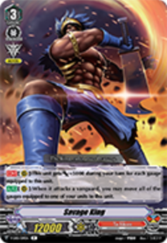 V-EB01/019EN Savage King - The Destructive Roar Cardfight!! Vanguard! English Trading Card Game