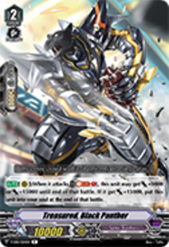 V-EB01/024EN Treasured, Black Panther - The Destructive Roar Cardfight!! Vanguard! English Trading Card Game