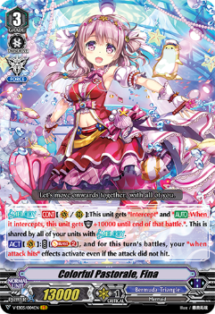V-EB05/004EN Colorful Pastorale, Fina - Primary Melody Cardfight!! Vanguard! English Trading Card Game