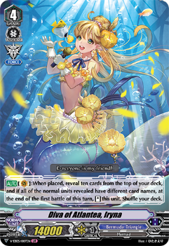 V-EB05/007EN Diva of Atlantea, Iryna - Primary Melody Cardfight!! Vanguard! English Trading Card Game