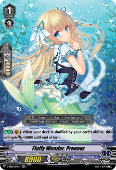 V-EB05/014EN Fluffy Wonder, Preenez - Primary Melody Cardfight!! Vanguard! English Trading Card Game