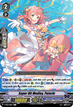 V-EB05/018EN Super Hit Medley, Paterie - Primary Melody Cardfight!! Vanguard! English Trading Card Game