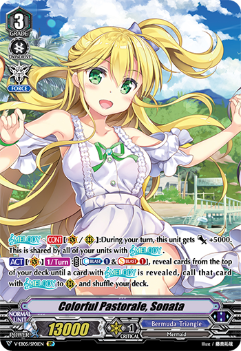 V-EB05/SP01EN Colorful Pastorale, Sonata - Primary Melody Cardfight!! Vanguard! English Trading Card Game