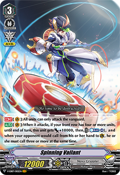 V-EB07/002EN Spinning Valiant - The Heroic Evolution Cardfight!! Vanguard! English Trading Card Game