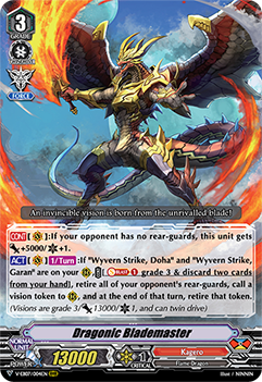 V-EB07/004EN Dragonic Blademaster - The Heroic Evolution Cardfight!! Vanguard! English Trading Card Game