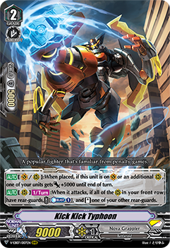 V-EB07/007EN Kick Kick Typhoon - The Heroic Evolution Cardfight!! Vanguard! English Trading Card Game