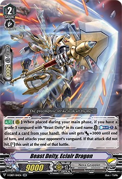 V-EB07/014EN Beast Deity, Eclair Dragon - The Heroic Evolution Cardfight!! Vanguard! English Trading Card Game