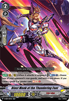 V-EB07/017EN Blast Monk of the Thundering Foot - The Heroic Evolution Cardfight!! Vanguard! English Trading Card Game