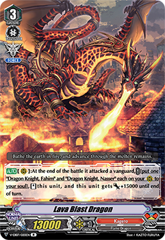 V-EB07/020EN Lava Blast Dragon - The Heroic Evolution Cardfight!! Vanguard! English Trading Card Game