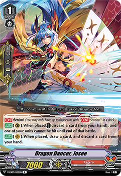 V-EB07/022EN Dragon Dancer, Josee - The Heroic Evolution Cardfight!! Vanguard! English Trading Card Game
