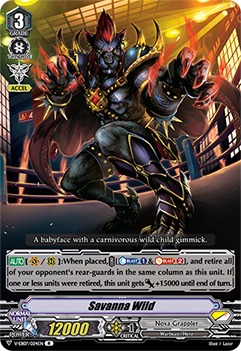 V-EB07/024EN Savanna Wild - The Heroic Evolution Cardfight!! Vanguard! English Trading Card Game