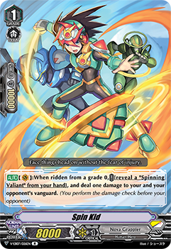 V-EB07/026EN Spin Kid - The Heroic Evolution Cardfight!! Vanguard! English Trading Card Game