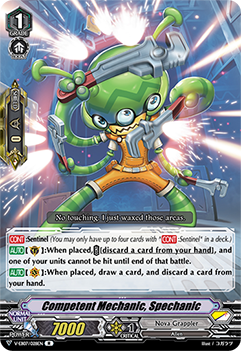 V-EB07/028EN Competent Mechanic, Spechanic - The Heroic Evolution Cardfight!! Vanguard! English Trading Card Game