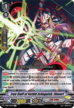V-EB07/033EN Iron Staff of Forbid Extinguish, Ilinvert - The Heroic Evolution Cardfight!! Vanguard! English Trading Card Game