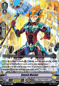 V-EB07/050EN Smash Masher - The Heroic Evolution Cardfight!! Vanguard! English Trading Card Game