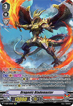 V-EB07/SP01EN Dragonic Blademaster - The Heroic Evolution Cardfight!! Vanguard! English Trading Card Game