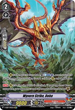 V-EB07/SP02EN Wyvern Strike, Doha - The Heroic Evolution Cardfight!! Vanguard! English Trading Card Game