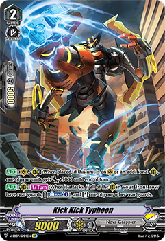 V-EB07/SP04EN Kick Kick Typhoon - The Heroic Evolution Cardfight!! Vanguard! English Trading Card Game