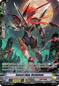V-EB07/SP06EN Sunset Edge, Duskblade - The Heroic Evolution Cardfight!! Vanguard! English Trading Card Game