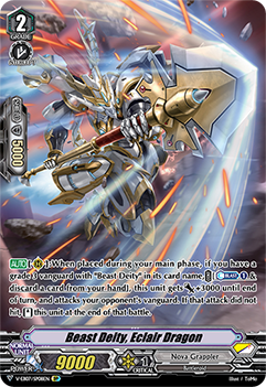 V-EB07/SP08EN Beast Deity, Eclair Dragon - The Heroic Evolution Cardfight!! Vanguard! English Trading Card Game