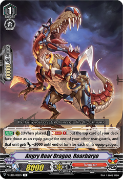 V-EB09/022EN Angry Roar Dragon, Roarbaryo - The Raging Tactics Cardfight!! Vanguard! English Trading Card Game