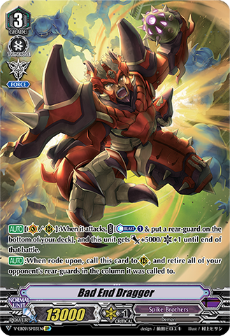 V-EB09/SP03EN Bad End Dragger - The Raging Tactics Cardfight!! Vanguard! English Trading Card Game