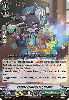 V-EB10/007EN Prober of Black Jet, Cecile - The Mysterious Fortune Cardfight!! Vanguard! English Trading Card Game