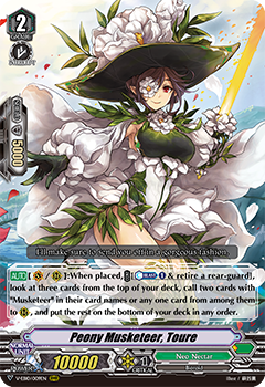 V-EB10/009EN Peony Musketeer, Toure - The Mysterious Fortune Cardfight!! Vanguard! English Trading Card Game