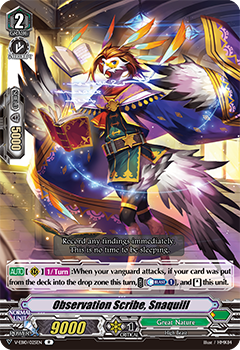 V-EB10/025EN Observation Scribe, Snaquill - The Mysterious Fortune Cardfight!! Vanguard! English Trading Card Game