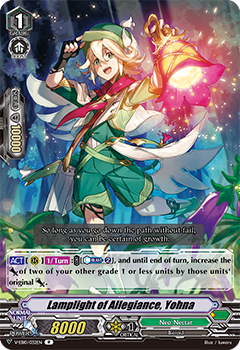 V-EB10/032EN Lamplight of Allegiance, Yohna - The Mysterious Fortune Cardfight!! Vanguard! English Trading Card Game