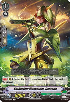 V-EB10/059EN Anthurium Musketeer, Gastone - The Mysterious Fortune Cardfight!! Vanguard! English Trading Card Game