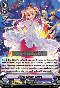 V-EB11/010EN Silver Singer, Cutire - Crystal Melody Cardfight!! Vanguard! English Trading Card Game