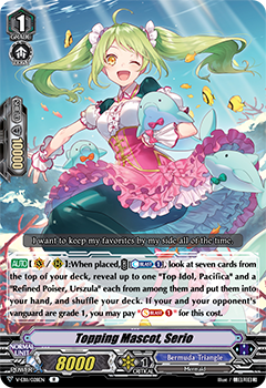 V-EB11/028EN Topping Mascot, Serio - Crystal Melody Cardfight!! Vanguard! English Trading Card Game