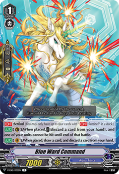 V-EB12/032EN Blue Ward Command - Team Dragon's Vanity! Cardfight!! Vanguard! English Trading Card Game