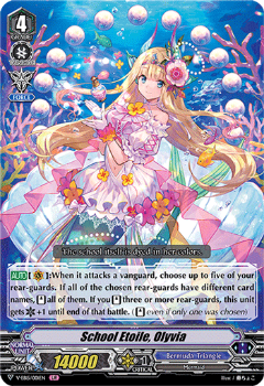 V-EB15/001EN School Etoile, Olyvia - Twinkle Melody Cardfight!! Vanguard! English Trading Card Game
