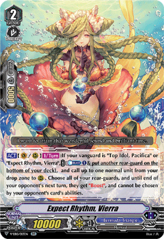 V-EB15/013EN Expect Rhythm, Vierra - Twinkle Melody Cardfight!! Vanguard! English Trading Card Game