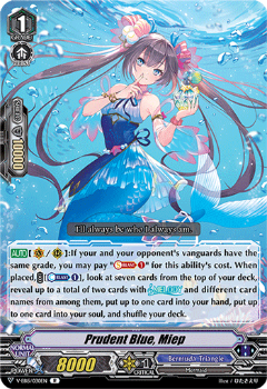 V-EB15/030EN Prudent Blue, Miep - Twinkle Melody Cardfight!! Vanguard! English Trading Card Game
