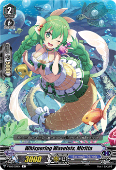 V-EB15/038EN Whispering Wavelets, Miritta - Twinkle Melody Cardfight!! Vanguard! English Trading Card Game
