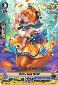 V-EB15/046EN Direct Sign, Pursh - Twinkle Melody Cardfight!! Vanguard! English Trading Card Game