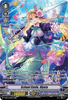 V-EB15/OCR01EN School Etoile, Olyvia - Twinkle Melody Cardfight!! Vanguard! English Trading Card Game
