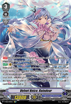 V-EB15/SP10EN Velvet Voice, Raindear - Twinkle Melody Cardfight!! Vanguard! English Trading Card Game